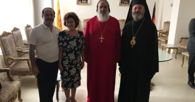 Besuch Seiner Eminenz Isaak Barakat bei Moran Mor Ignatius Ephräm II. Karim