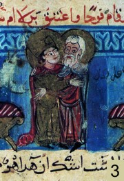 Joasaph embrassant Barlaam