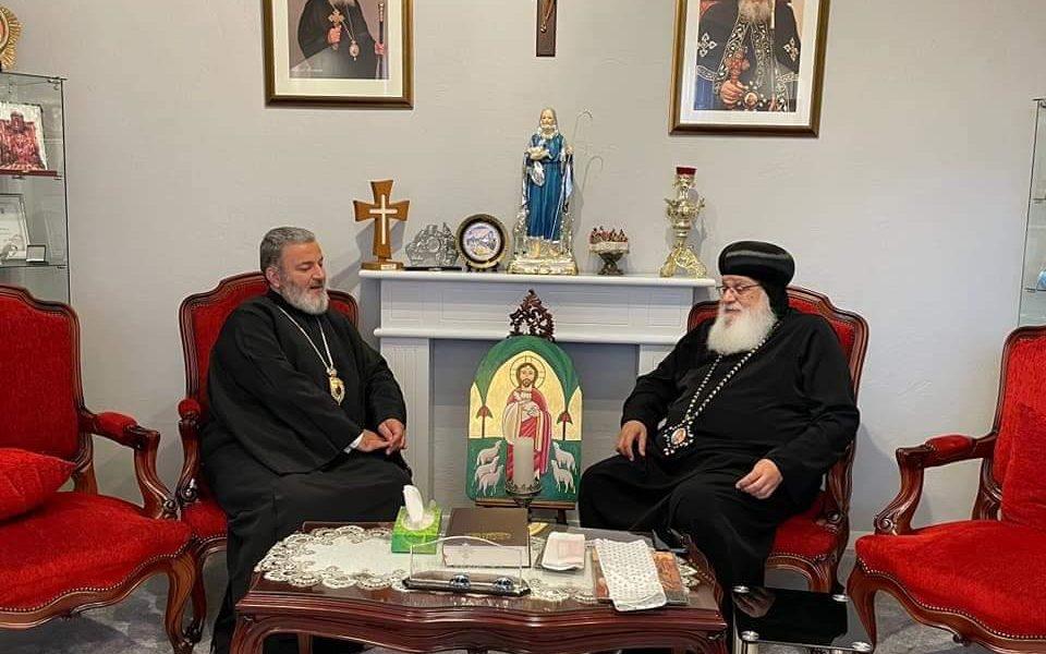 Metropolit Isaak, besuchte seine Eminenz Anba Arsany, Bischof der Koptisch-Orthdooxen Kirche in den Niederlanden